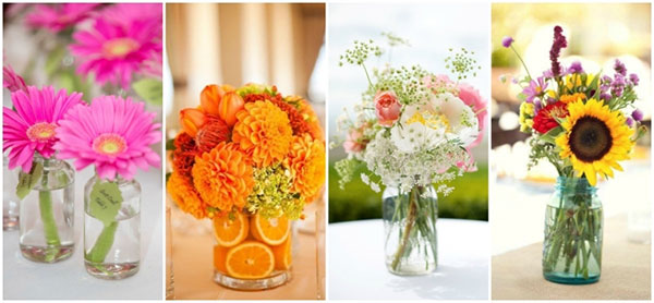 How To Throw a Beautiful Summer Wedding - Floral Arrangements